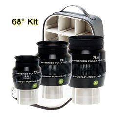 Explore Scientific 68-Degree Eyepiece Kit with Case - EPWP68-KIT