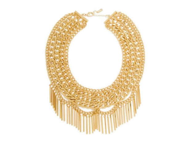 Piper Bib Necklace - Gold