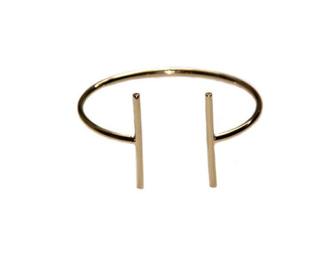 Gold Parallel Cuff