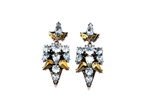 Allegra Warrior Earrings Zinnia West