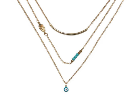 Hamsa Layered Necklace Zinnia West