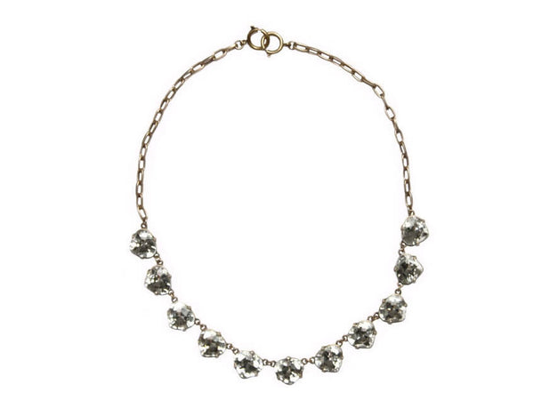 Lexie Clear Gem Necklace Zinnia West