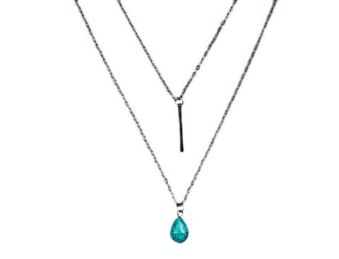 Turquoise Pendant Necklace Zinnia West
