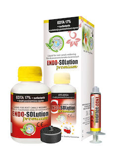 Endo-Solution Premium EDTA líquido 17% + Surfactantes, 120 ml.