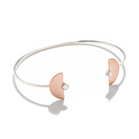 Open Half Moon Bangle
