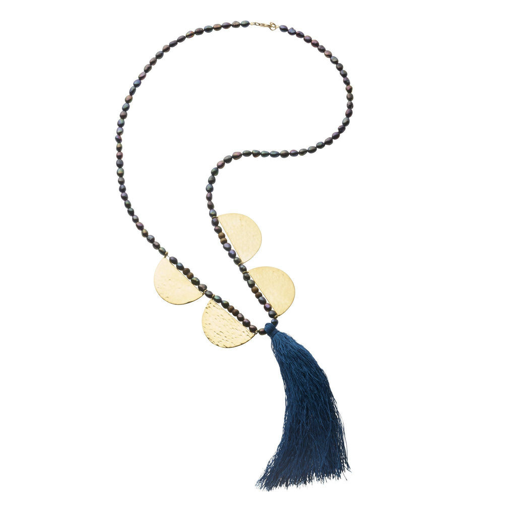 Aurora Pearl Tassel Necklace