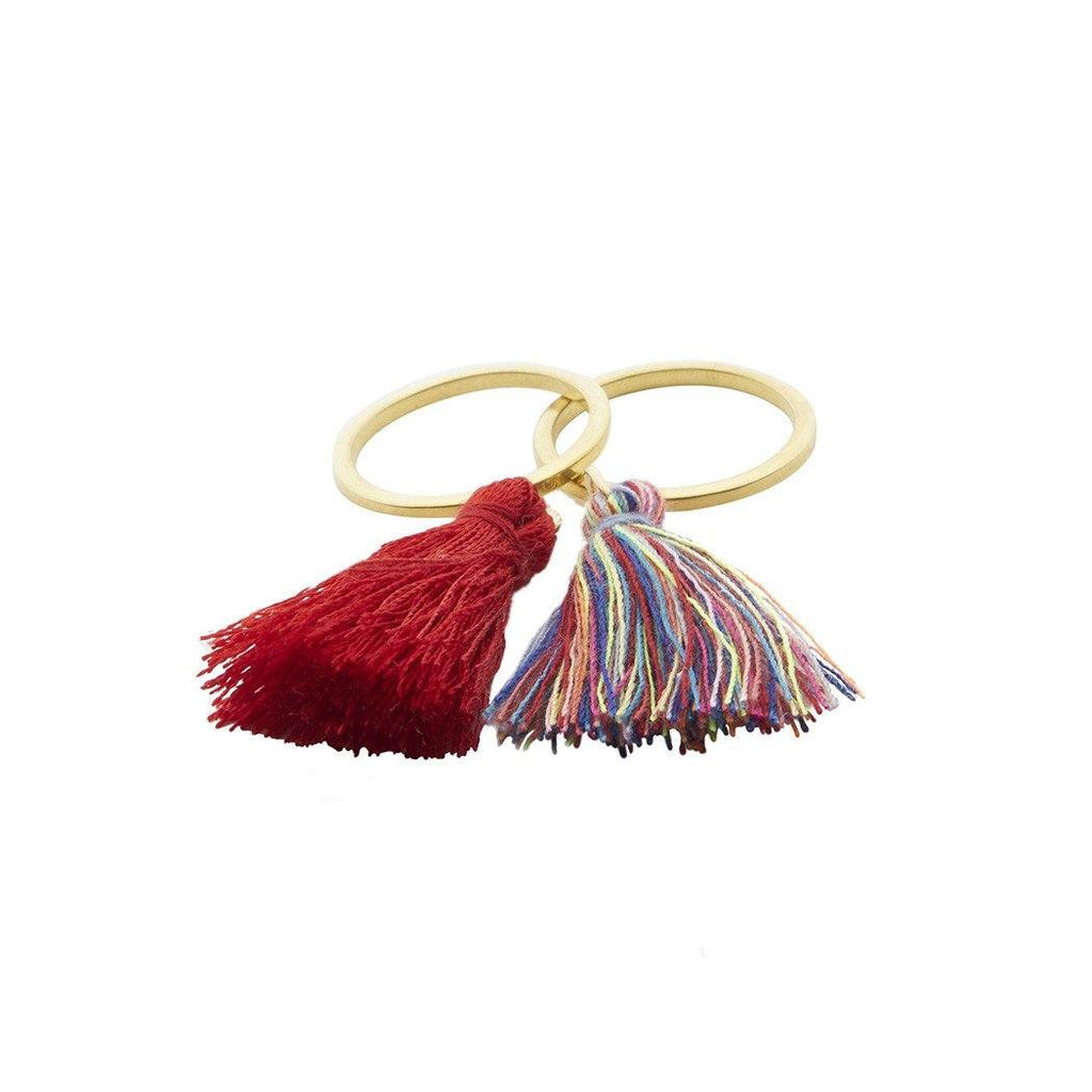 Square Pelito Tassel Ring