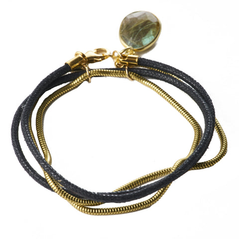 Wrap Bracelet with Gemstones