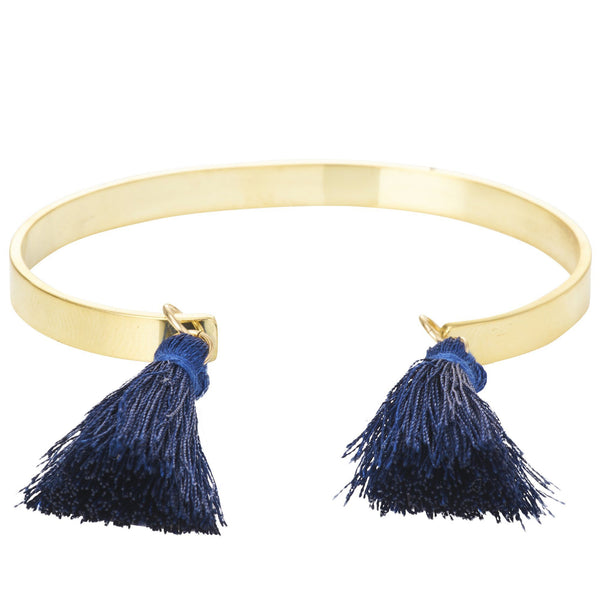 *NEW* Textured Bangle with Tassels