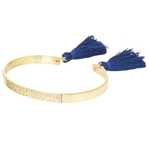 Textured Bangle with Tassels