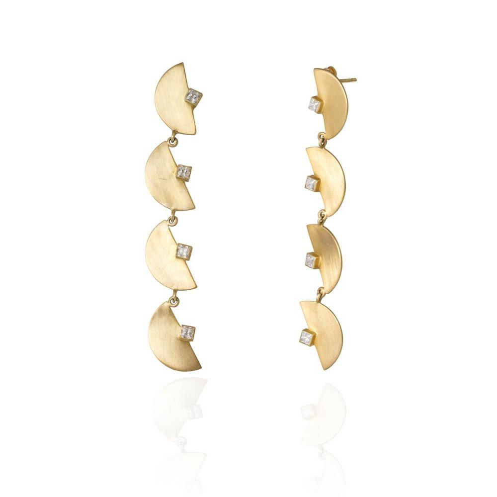 Half Moon Chandelier Earrings