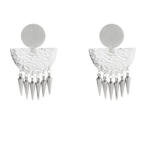 Riveted Sunrise Studs with Daggers