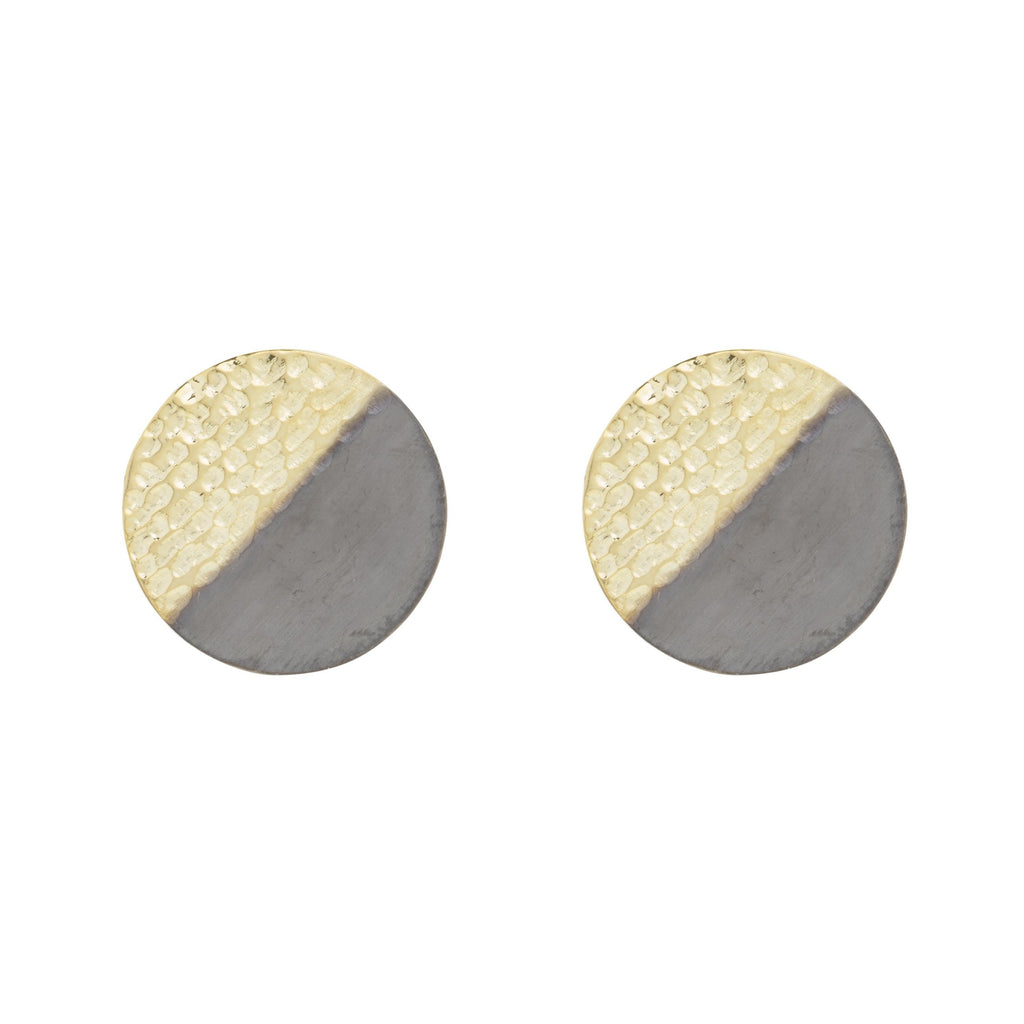 Small Two Textured Stud