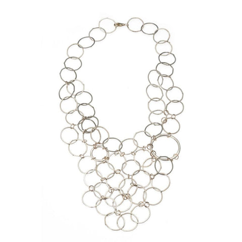 Large Circle Bib Necklace