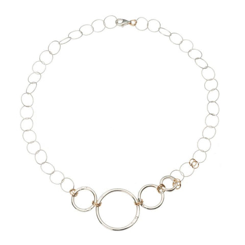 Undulating Ring Choker Necklace