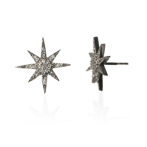 *NEW* White Topaz Starburst Studs