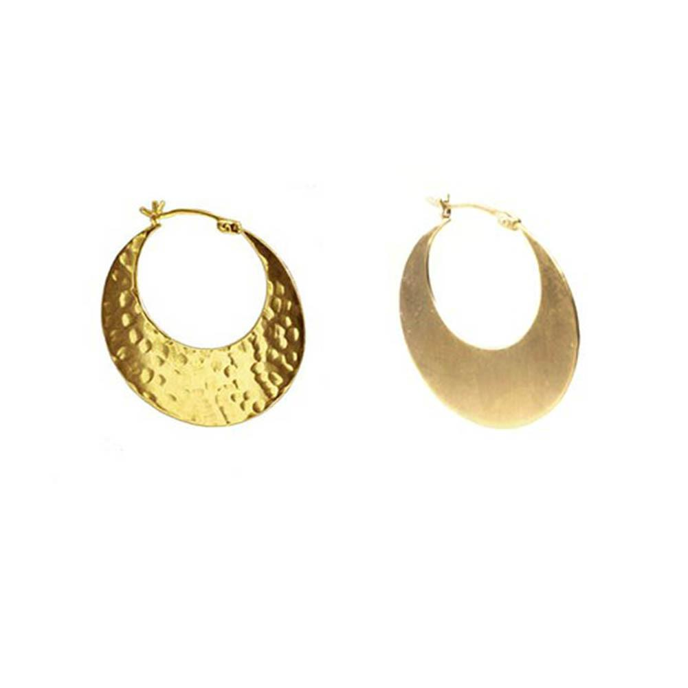 Gold Reversible Slice Hoop Earrings