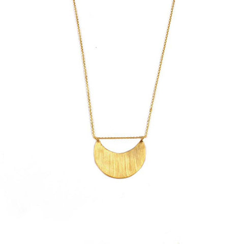 *New* Half Moon Necklace with Pass Through