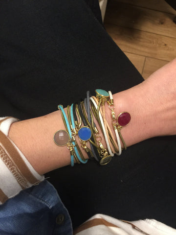 Wrap Bracelet with Gemstone