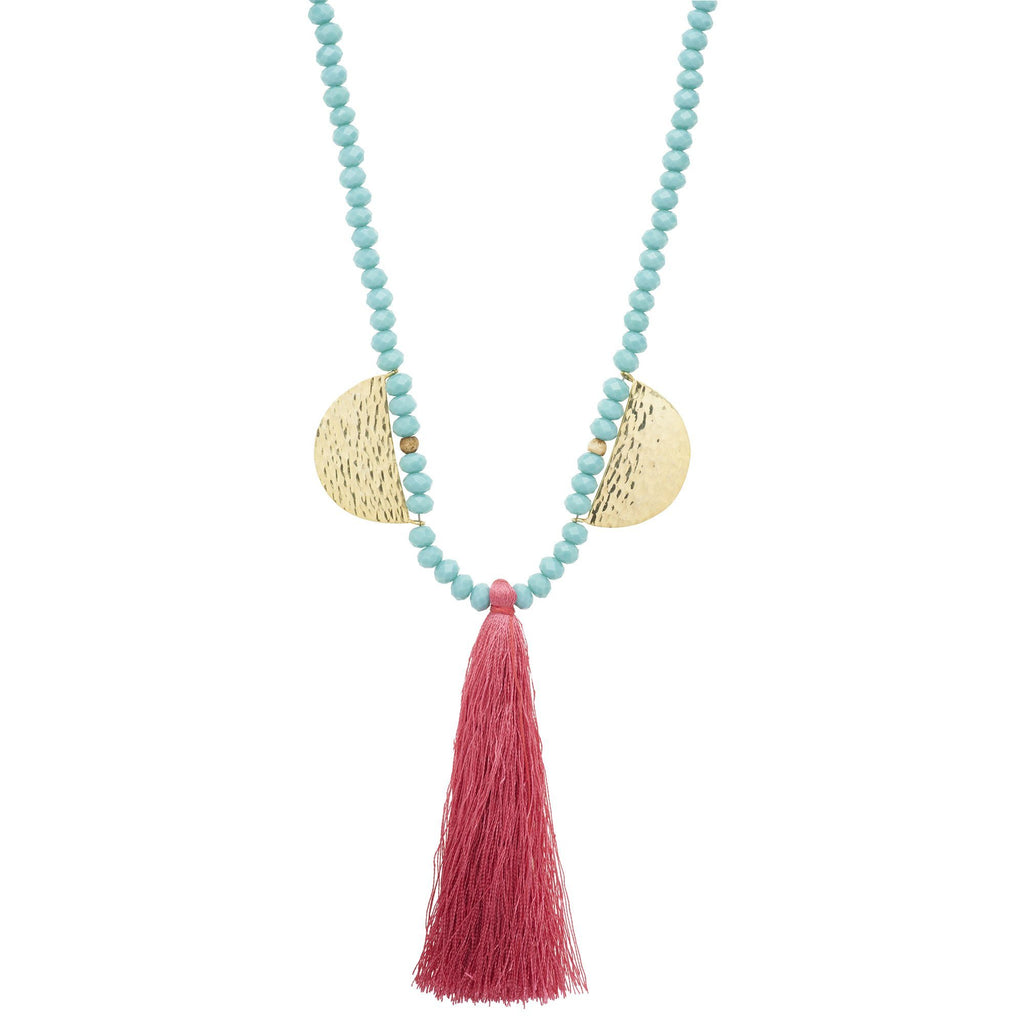 Faceted Bead Mala Necklace