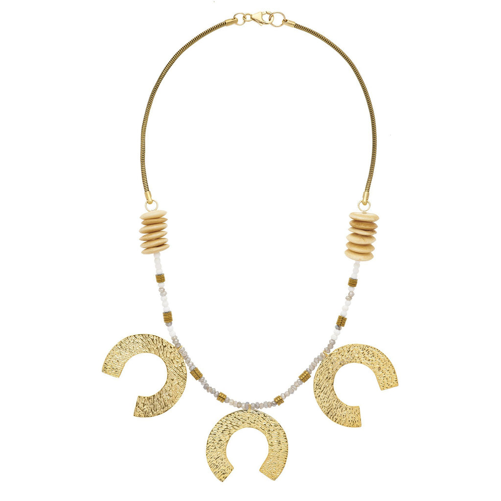 Large 3-Tier Horseshoe Necklace