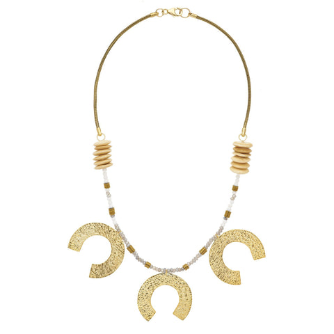 Flaca Favorite: *NEW* Large 3-Tier Horseshoe Necklace