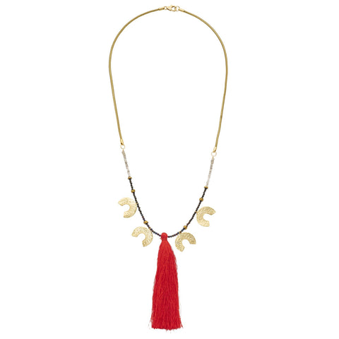 *NEW* Lucky 4 Horseshoe Necklace with Tassel