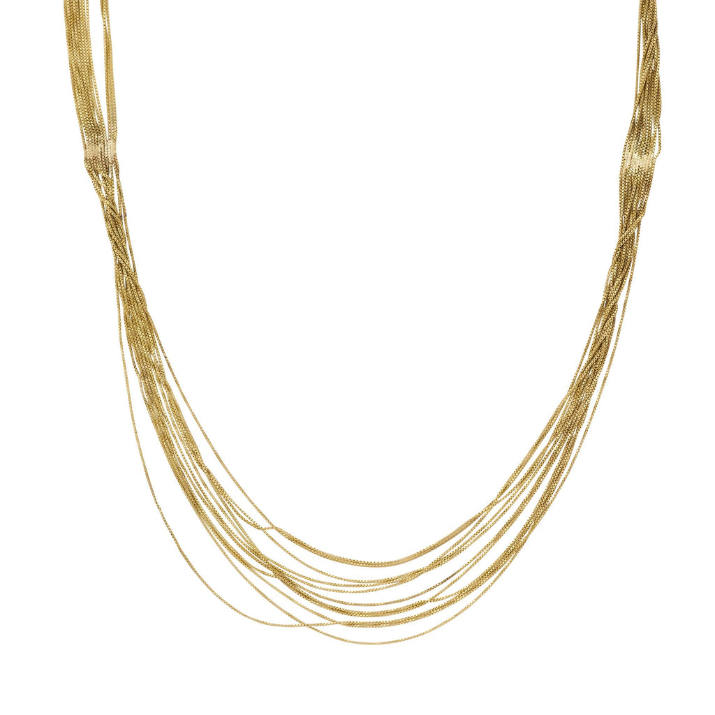 Liquid Gold Necklace 'Nicole'