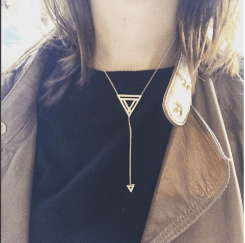 Best Selling Triangle Lariat Necklace