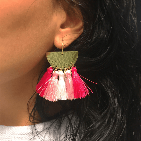Wedding Bells Sunrise Tassel Earrings