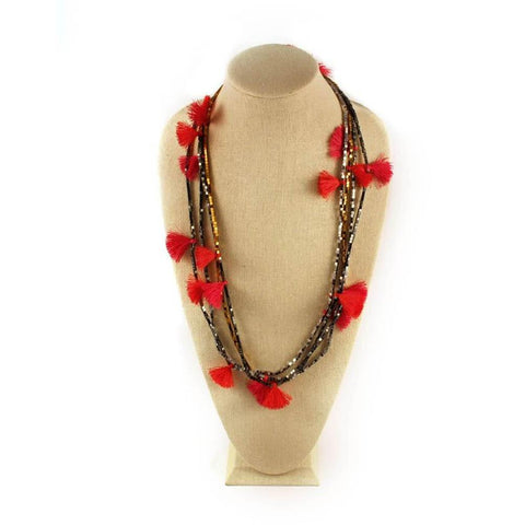 Beaded Fringe Necklace