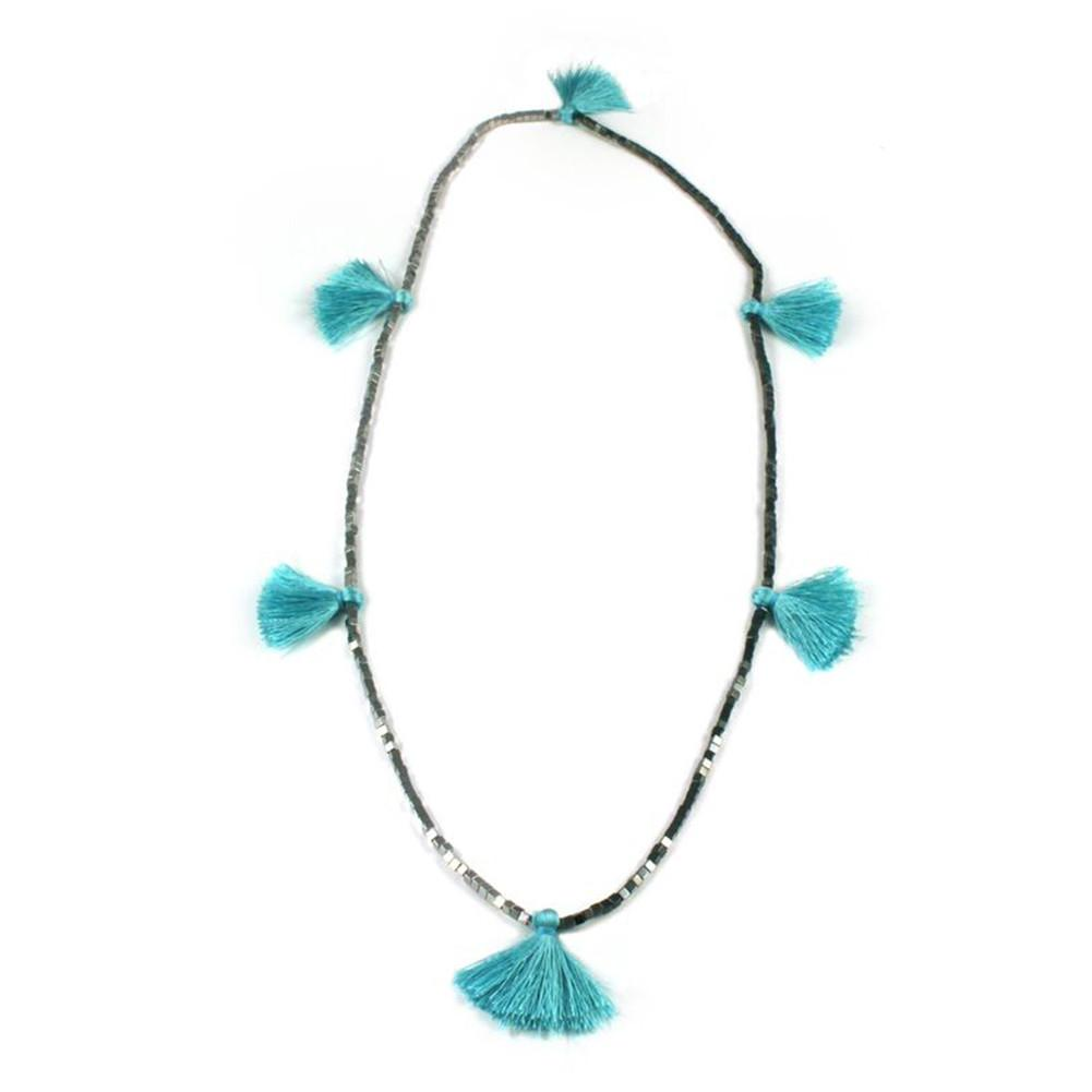 Beaded Fringe Necklace.