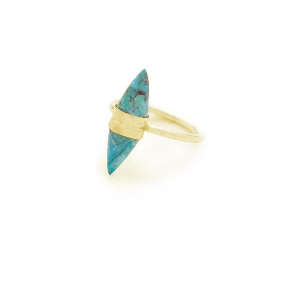 Flaca Picks: Double Turquoise Cone Ring