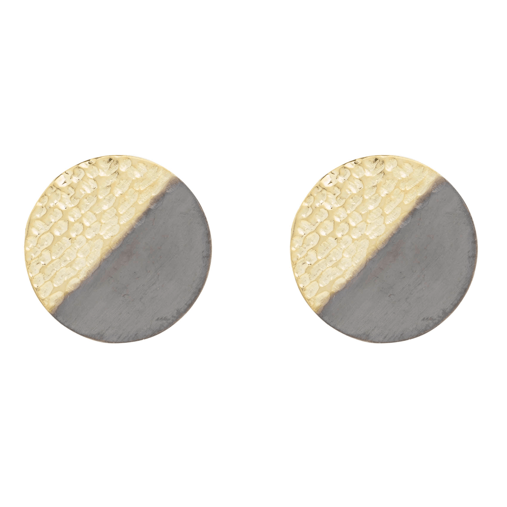 Large Two Textured Stud