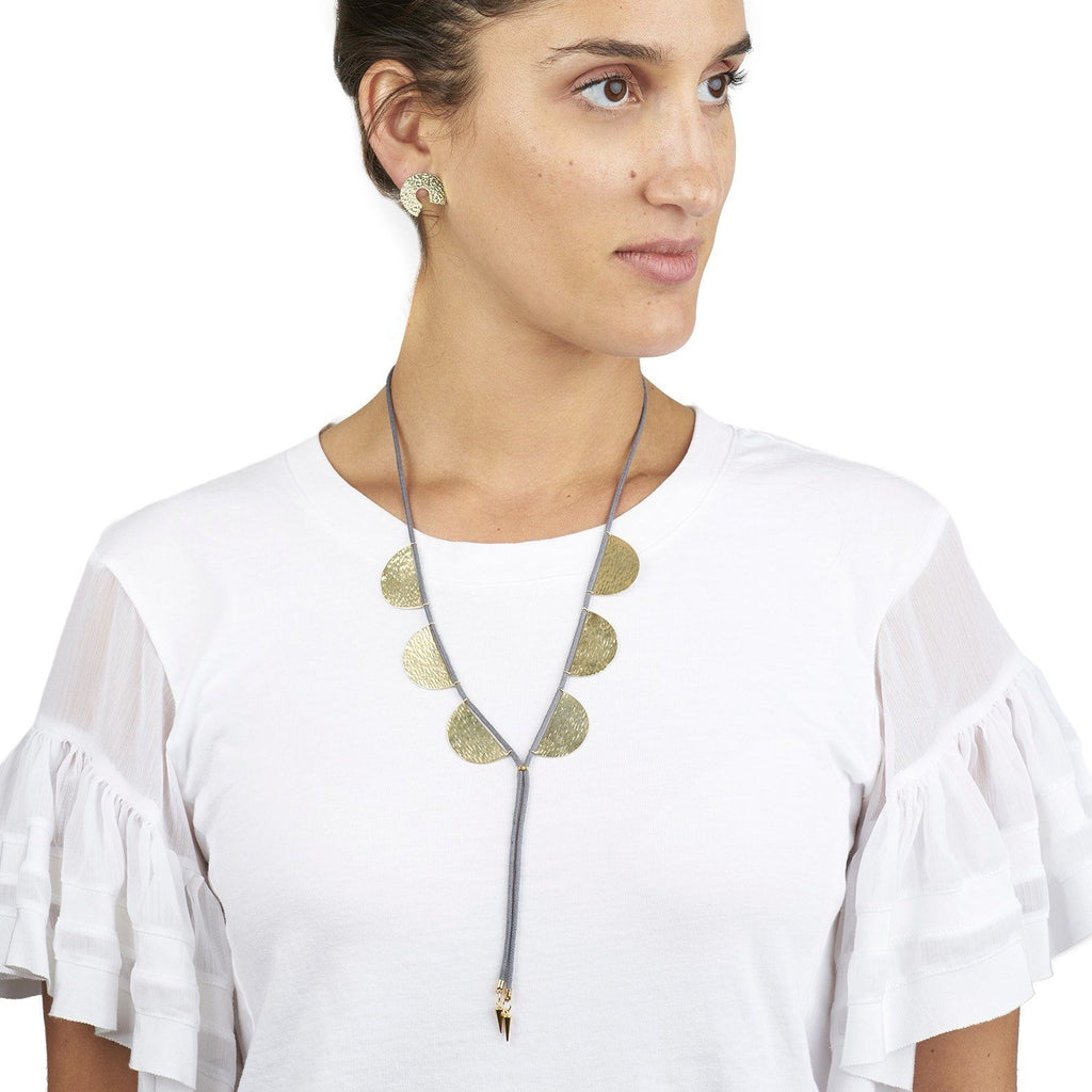 Large Aurora Lariat Necklace