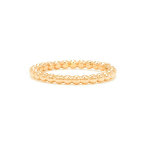 14KT Twisted Stacking Band