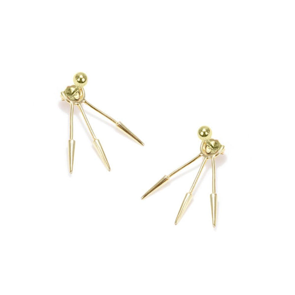 3-Tier Spike Back Earring