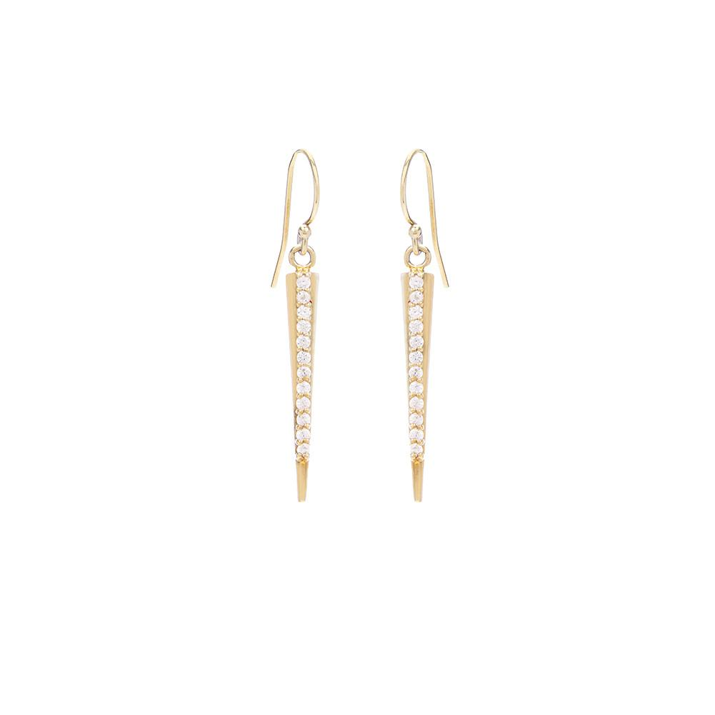 Medium Spike Earrings with Pave