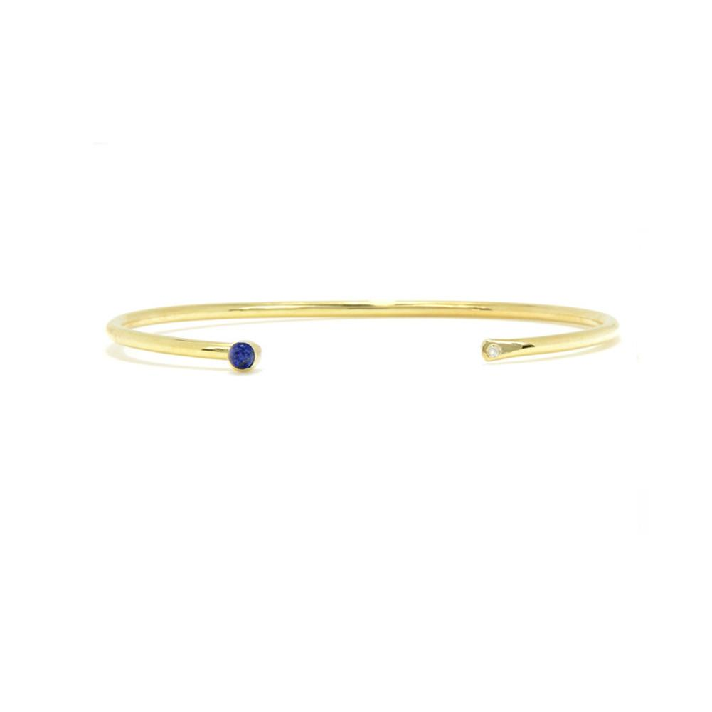Diamond Layering Bangle with Stone
