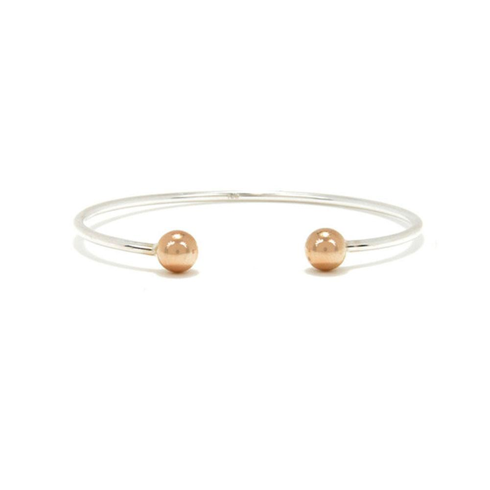 Bangle with Round Caps
