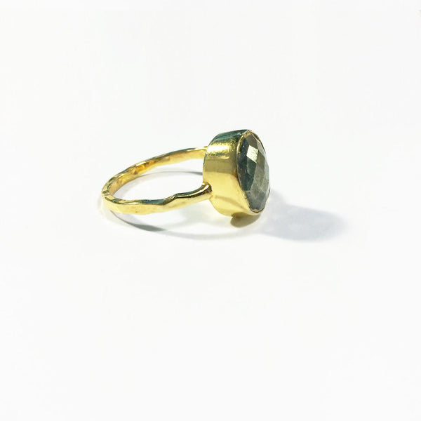 *New* Oval Faceted Stack Ring