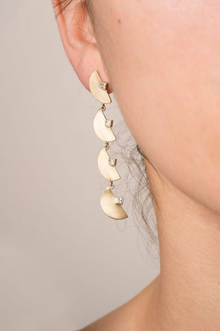 *NEW* Half Moon Chandelier Earrings