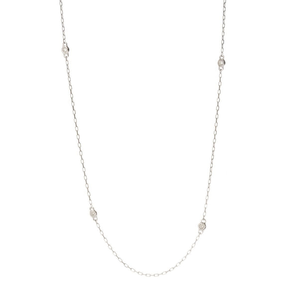 14KT Diamond by The Yard Necklace