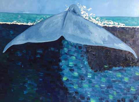 Stephanie Burns Blue Whale 2016 Oil on Canvas