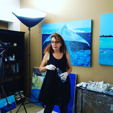 Stephanie Burns in her studio in Hollywood CA