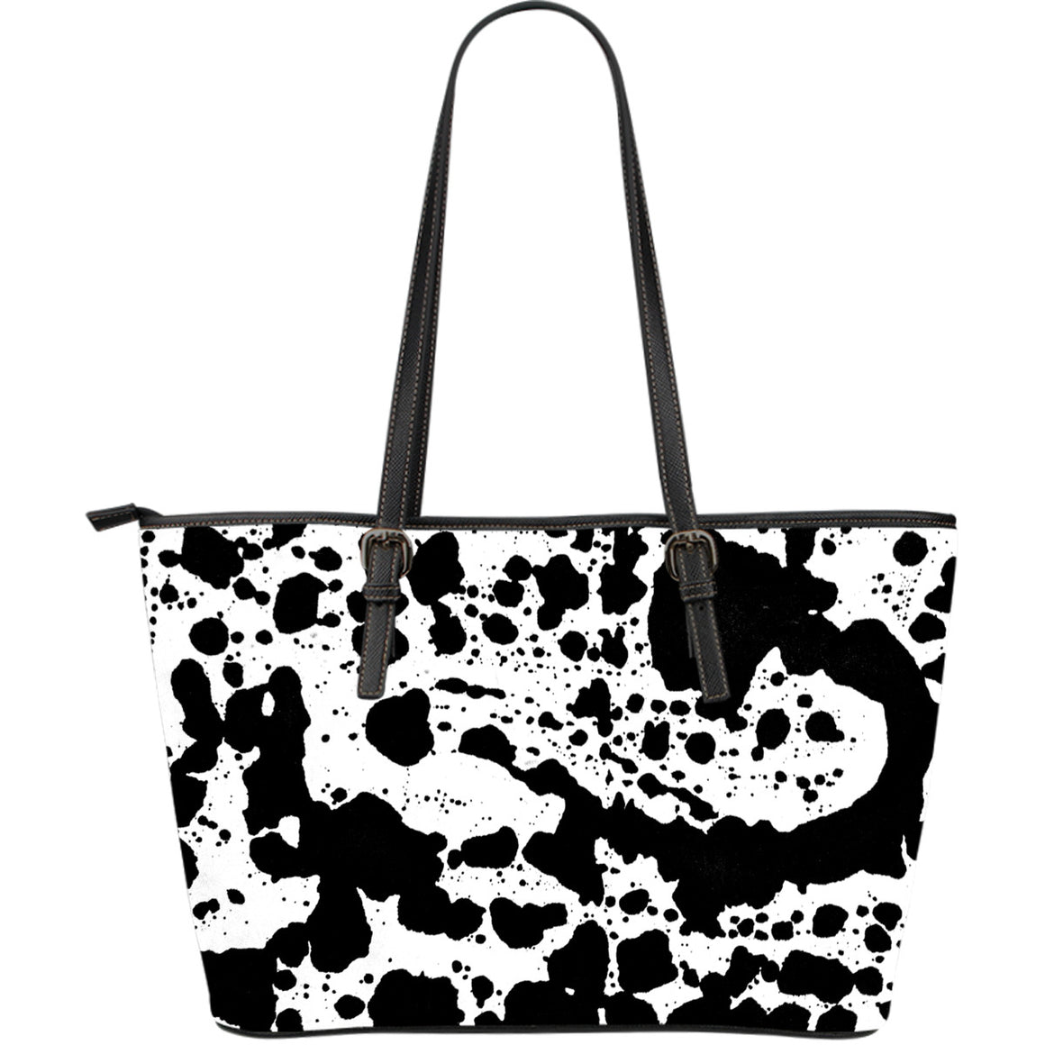 Dalmatian Large Leather Tote