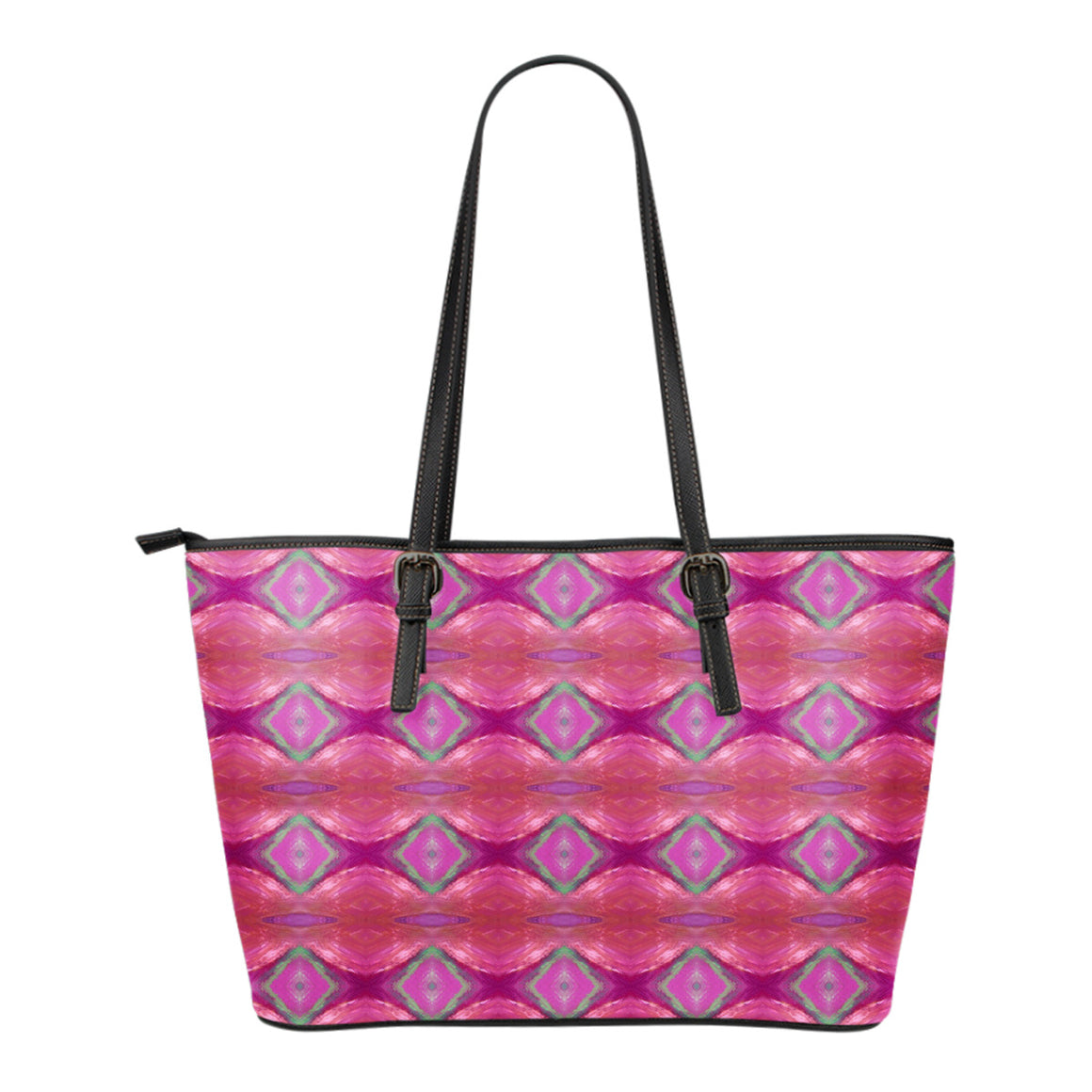 Paradise Pink Small Leather Tote