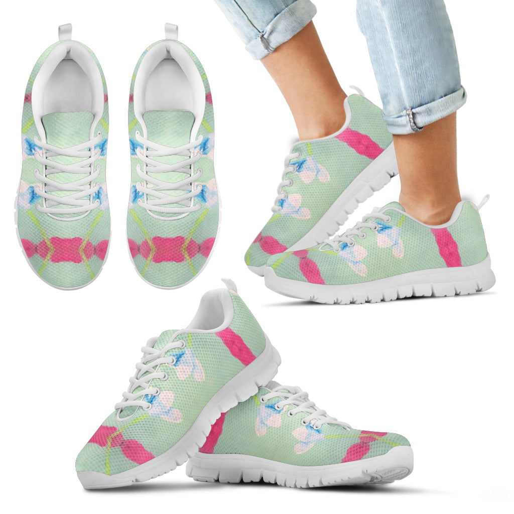 Pink Ribbon Kid's Sneakers