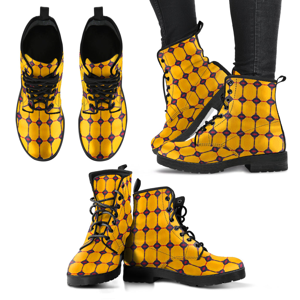 Yellow Submarine Vegan Leather Boots