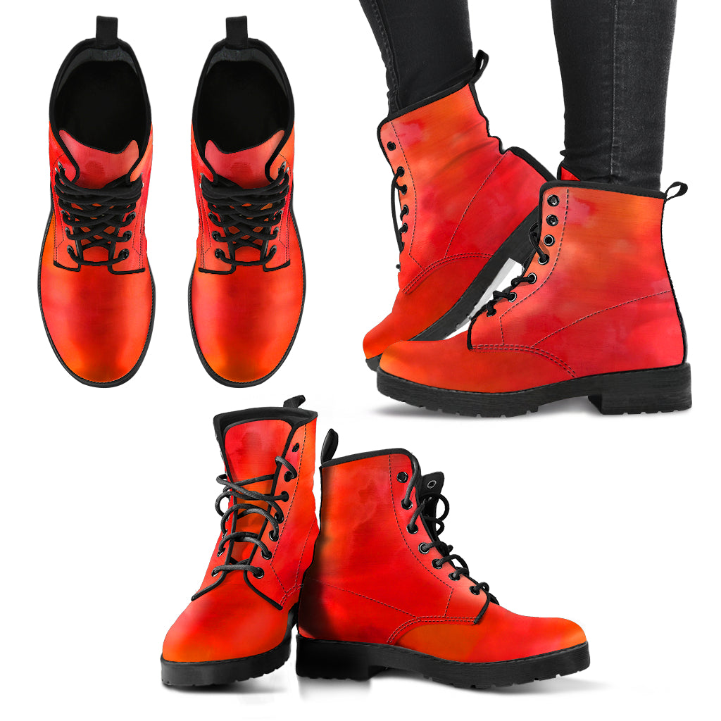 Red Love Vegan Leather Boots